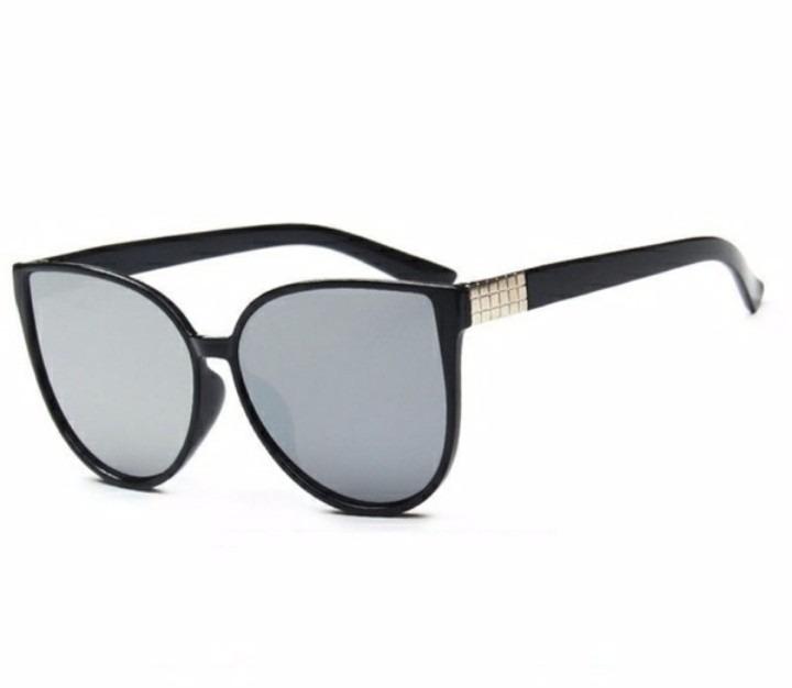 819b9d5db794a Oculos De Sol Feminino Olho De Gato Espelhado Prata - R  59,99 em ...