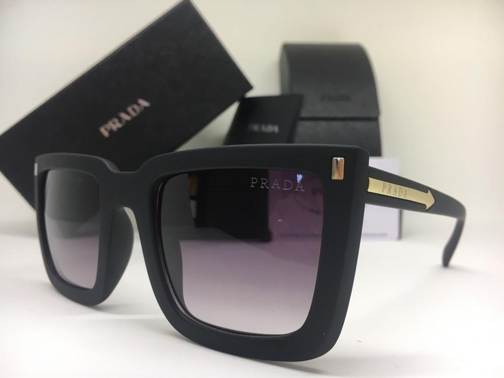 Oculos De Sol Feminino Prada Original Quadrado Frete Gratis - R  379 ... cd92ec0f4d