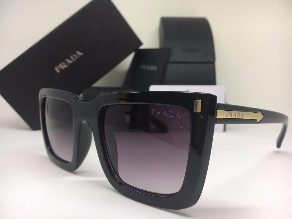35d6ac5f03615 oculos de sol feminino prada quadrado preto frete gratis. Carregando zoom.