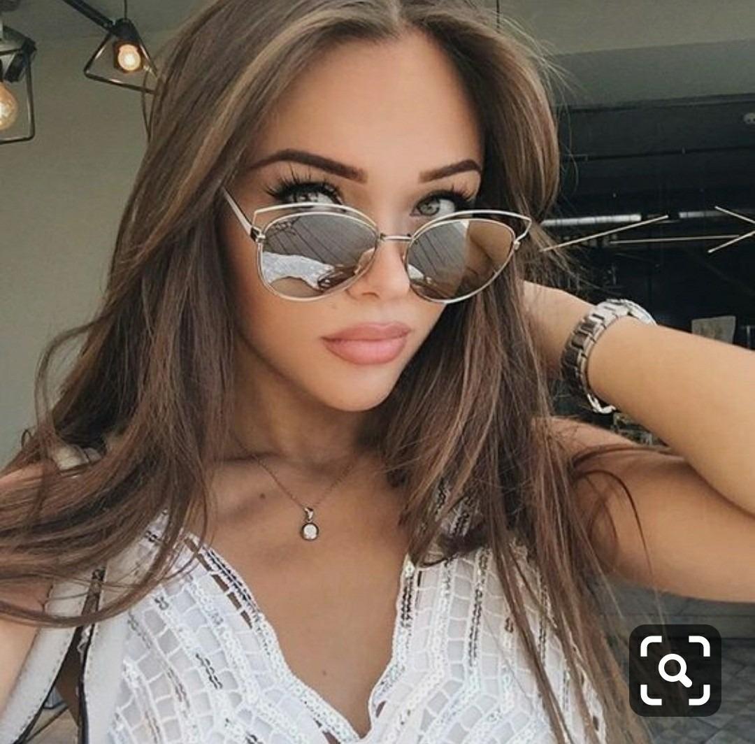 d3635f2a878c1 óculos de sol feminino preto espelhado proteção uv barato. Carregando zoom.