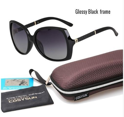 Óculos De Sol Feminino Proteção Uv+porta Óculos+lenço - R  89,90 em ... 3236eee07a