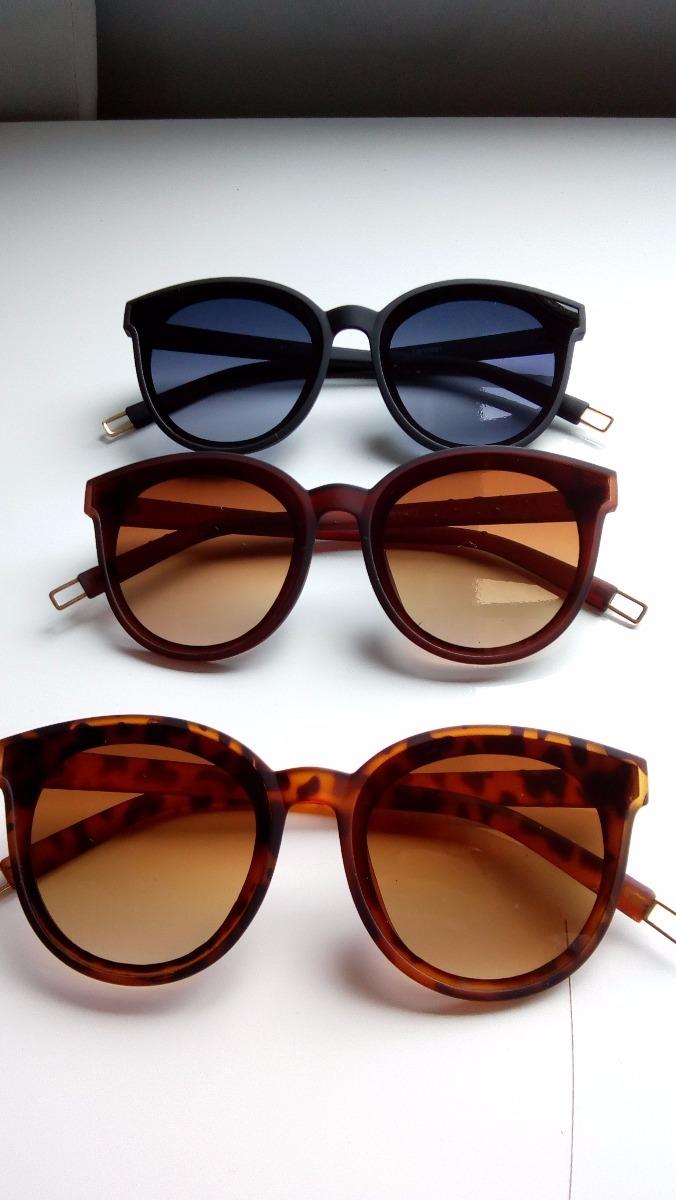 óculos de sol feminino proteção uv verão 2018 redondo lindo. Carregando  zoom. 7d3a0fba2d