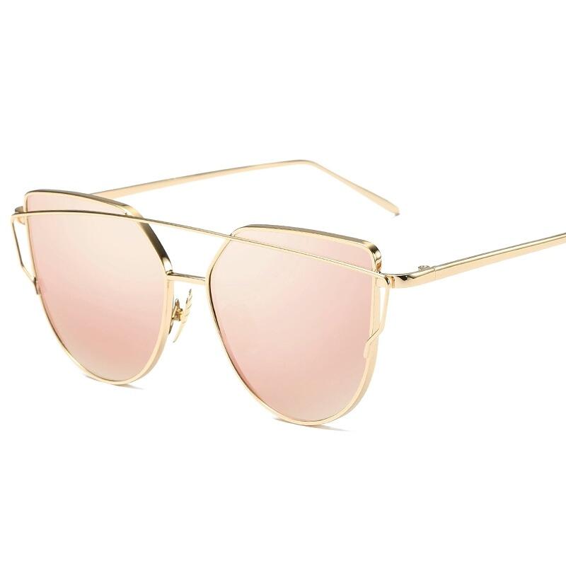 bcfbf3b3f óculos de sol feminino proteção uv400 espelhado rose lindo. Carregando zoom.