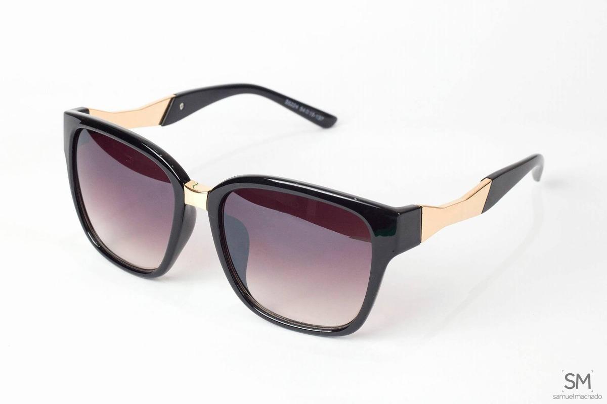 48260887350cb óculos de sol feminino quadrado preto degradê original. Carregando zoom.