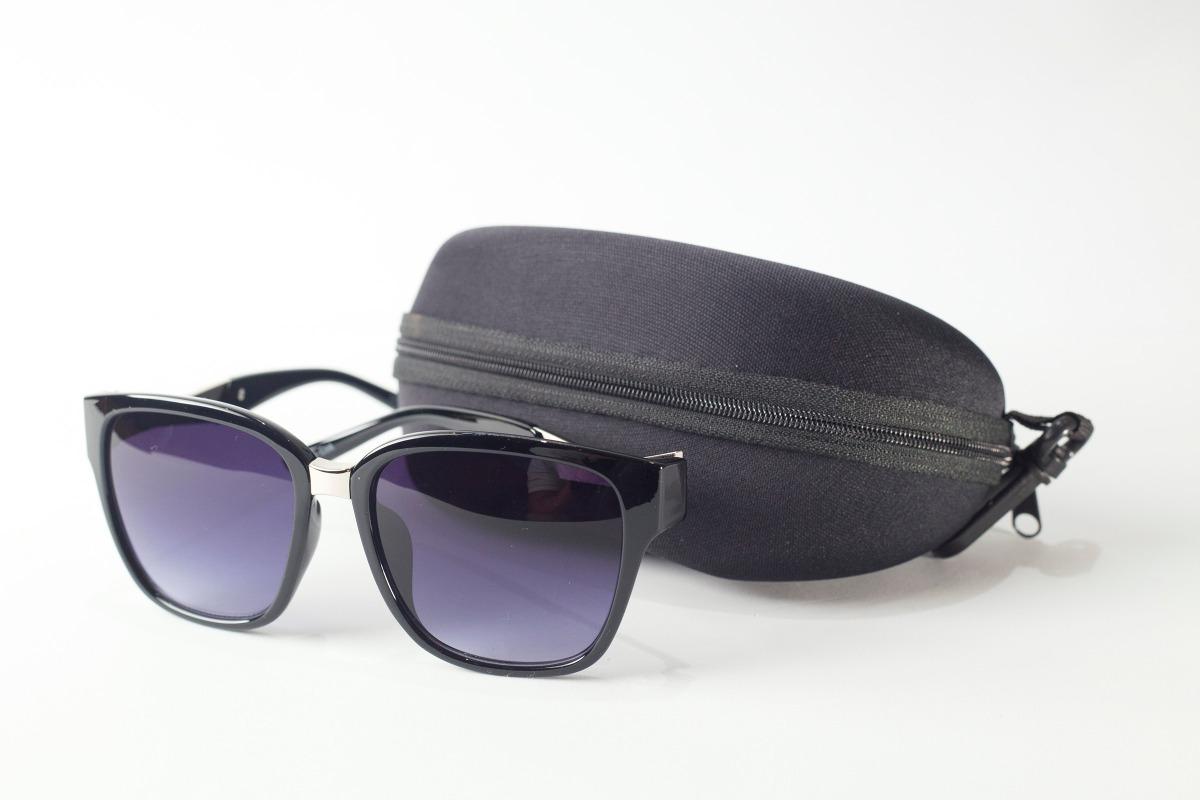 Oculos De Sol Feminino Quadrado Preto Original 400 Uv - R  89,99 em ... d59a3f21c7