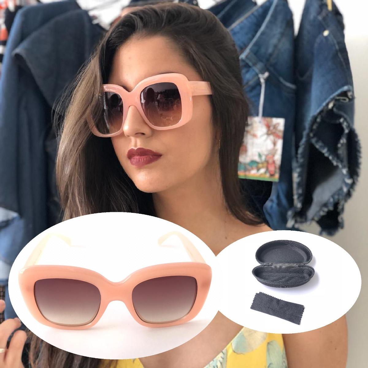 438879f02470b Óculos De Sol Feminino Quadrado Retangular Mascara Promoção - R  59 ...