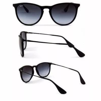 Oculos De Sol Feminino Ray Ban Erika Rb4171 Preto Fosco - R  269,49 ... 1ae0b06c03