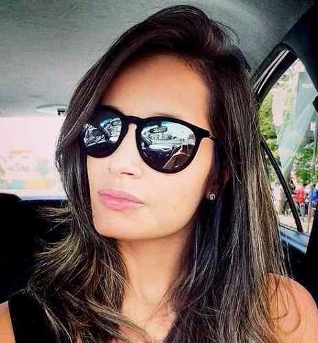 9c3e152d5e352 Óculos De Sol Feminino Rayban Veludo Erika Espelhado Prata - R  164 ...