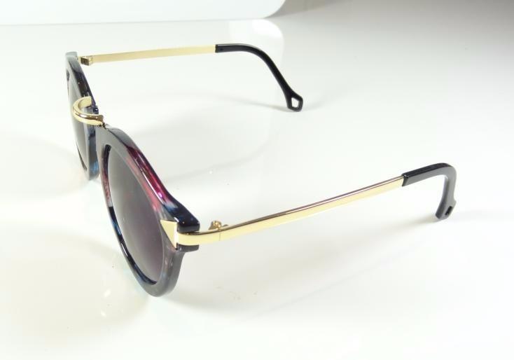 Oculos De Sol Feminino Redondo Dourado Colorido Moderno A805 - R  35 ... f38ff1dd79