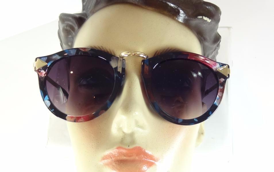 oculos de sol feminino redondo dourado colorido moderno a805. Carregando  zoom. c3498570e3