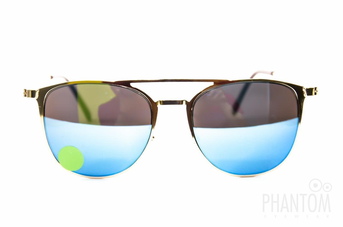 41ccb10e8ad6f oculos de sol feminino redondo espelhado azul dourado 2018. Carregando zoom.