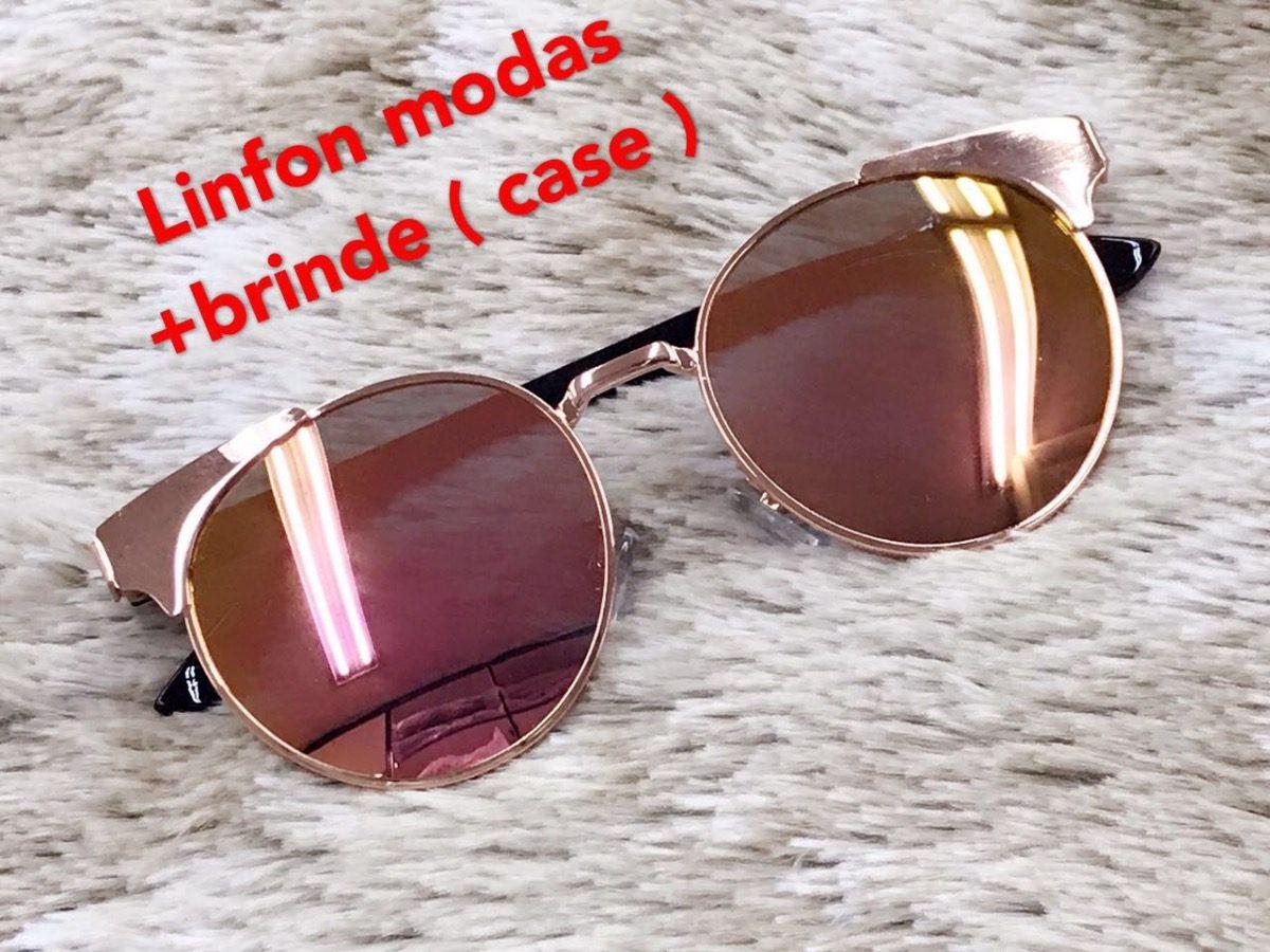 1e9589058d98d óculos de sol feminino redondo espelhado gatinho pronta entr. Carregando  zoom.