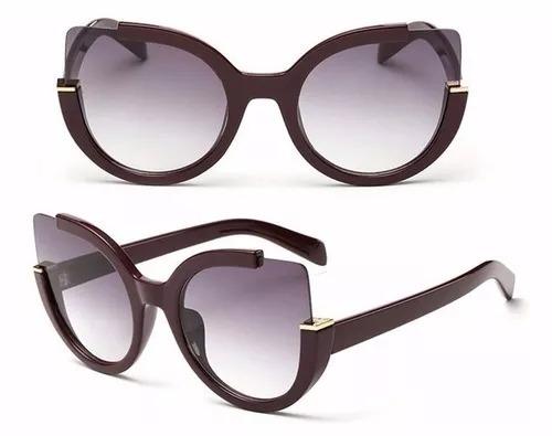6ce93ceff8570 Óculos De Sol Feminino Redondo Espelhado Vintage Cat Gato - R  27