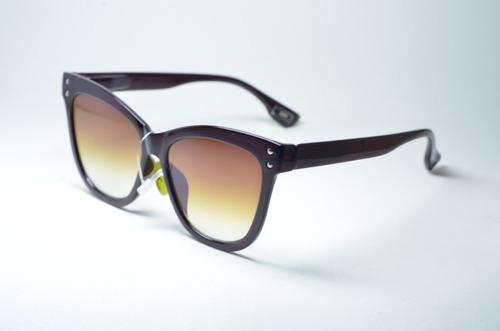 Óculos De Sol Feminino Redondo Grande Preto Proteção Uv400 - R  99 ... 8fafa8394c