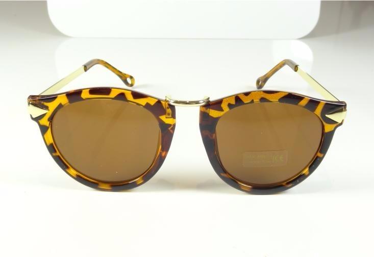 4f8c1fba0 Oculos De Sol Feminino Redondo Marrom Tartaruga Dourado A809 - R$ 35 ...