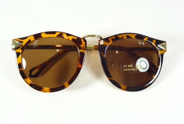 aedc3f0bfe716 Oculos De Sol Feminino Redondo Marrom Tartaruga Dourado A809 - R  35 ...