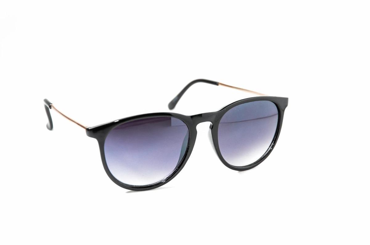 da8a71c7c7e79 óculos de sol feminino redondo preto lente degrade escuro. Carregando zoom.
