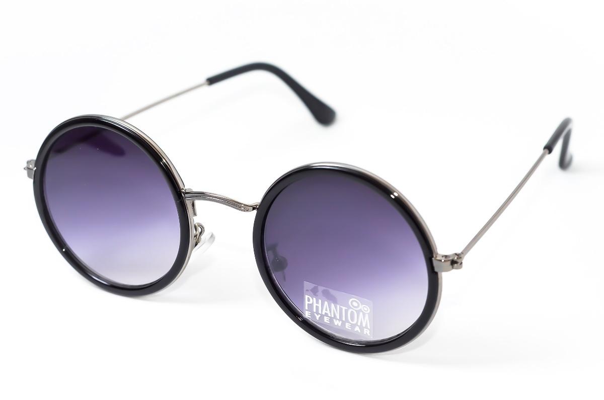 2fba61b3857f7 oculos de sol feminino redondo preto lente degrade hippie. Carregando zoom.