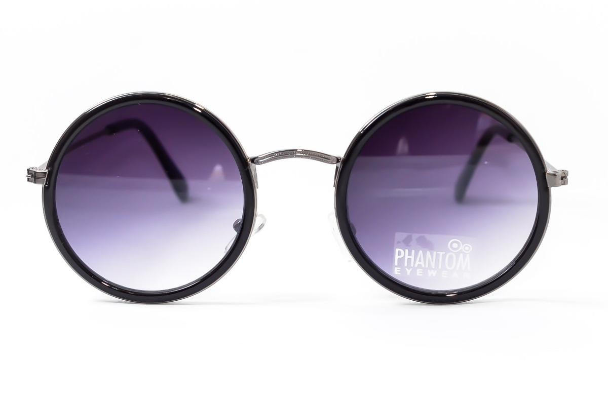 51967bd4f847c oculos de sol feminino redondo preto lente degrade hippie. Carregando zoom.