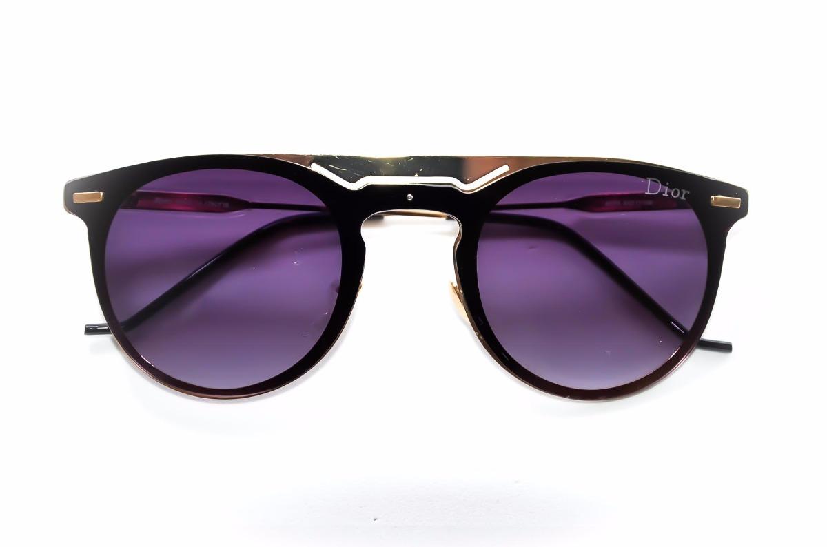 óculos de sol feminino redondo preto moda blogueira fashion. Carregando  zoom. db248e028f