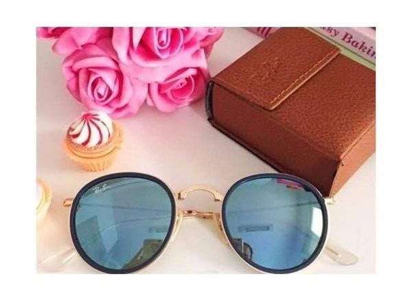 Óculos De Sol Feminino Redondo Ray Ban Round Original - R  599,90 em ... 97b26d0b36