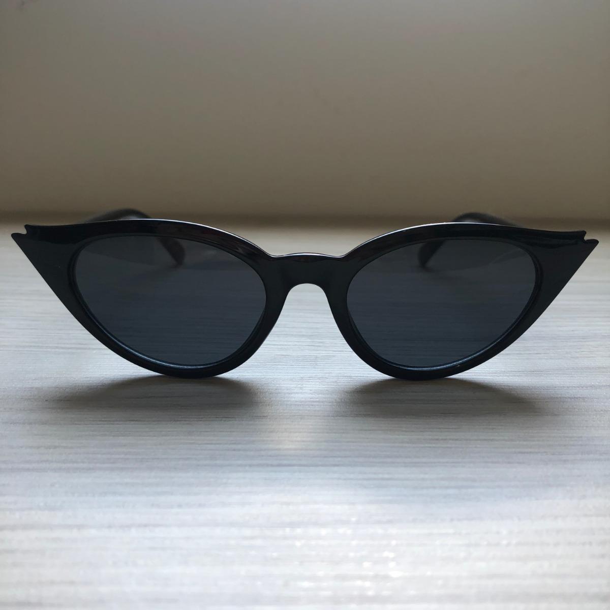 f62b5bb6fe241 óculos de sol feminino retro gatinho preto proteção uv400. Carregando zoom.