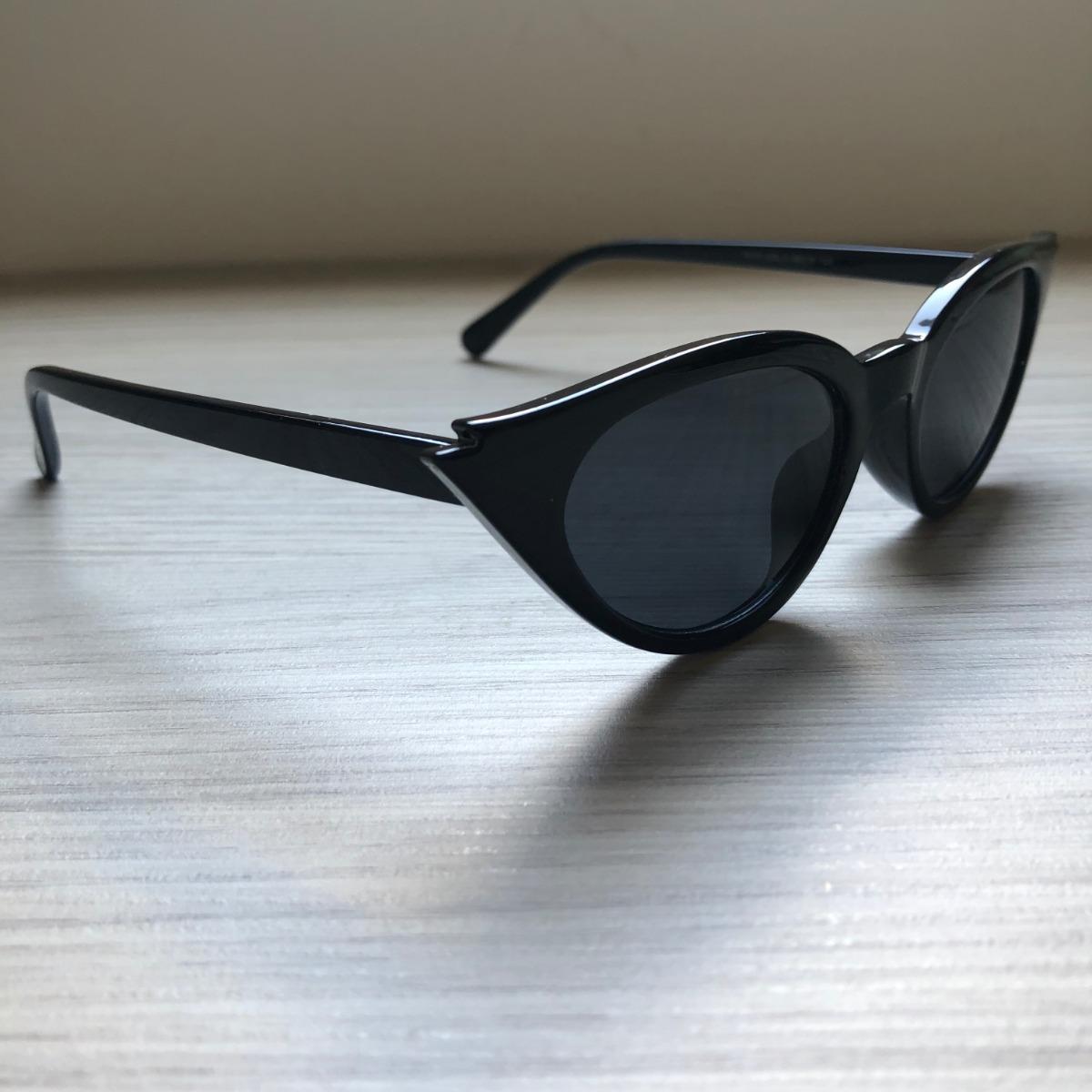 a8c3ba192 óculos de sol feminino retro gatinho preto proteção uv400. Carregando zoom.