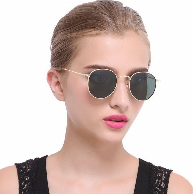 ec96df93f43c0 Oculos De Sol Feminino Retro Lentes Verde Polarizada - R  89,99 em ...