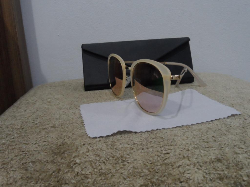 Óculos De Sol Feminino Rosê Acetato E Metal Br 904-092 - R  59,90 em ... 32ad05629f