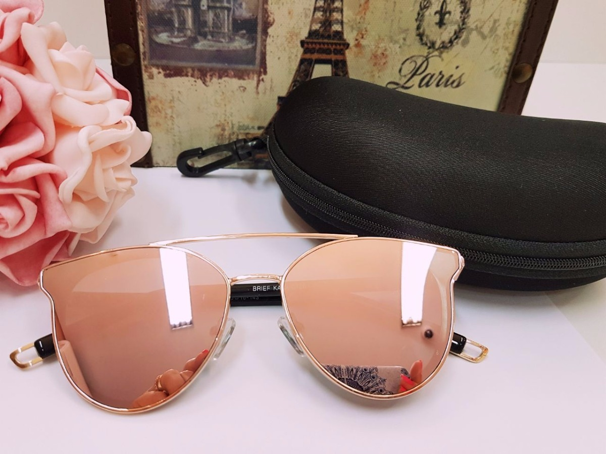 7ac5220b8ef67 óculos de sol feminino rosa espelhado gatinho original. Carregando zoom.