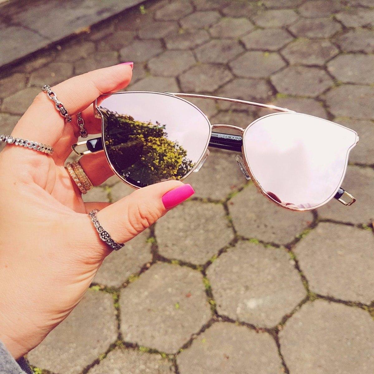 9e32c0f47 óculos de sol feminino rosa espelhado gatinho original. Carregando zoom.