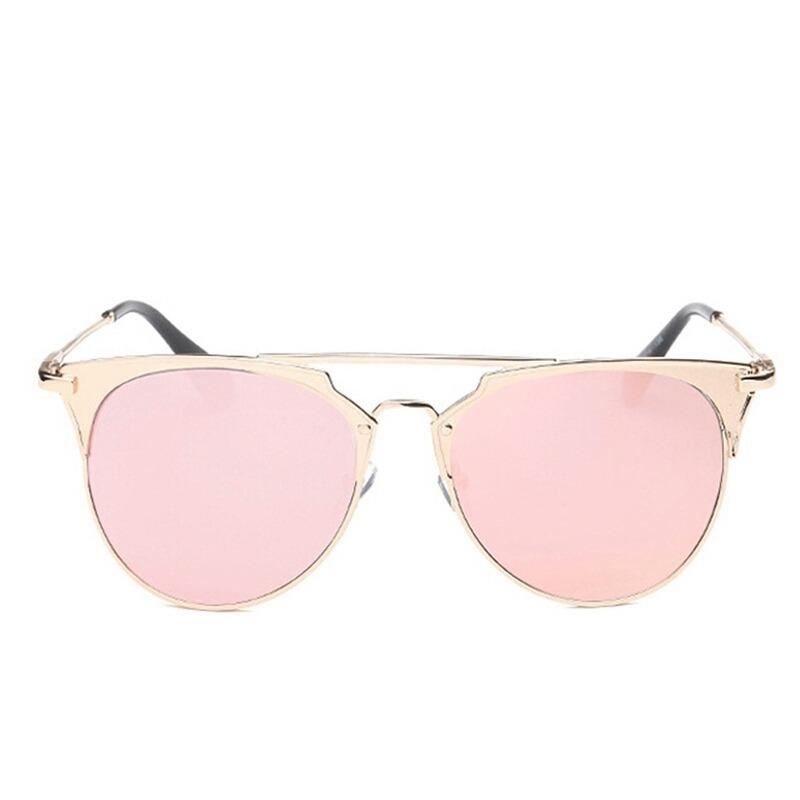 42078c8042096 óculos de sol feminino rosa gold armação em metal lindo. Carregando zoom.