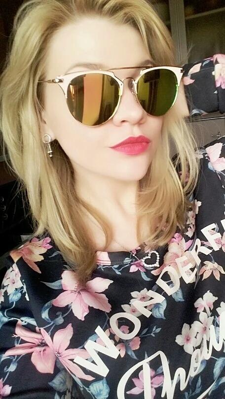 óculos de sol feminino rosa gold armação em metal lindo. Carregando zoom. 5144b7ce5d