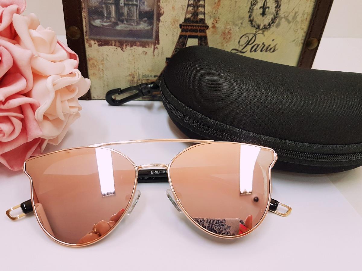 c4c5dd70ff oculos de sol feminino rosa rosé espelhado original barato. Carregando zoom.