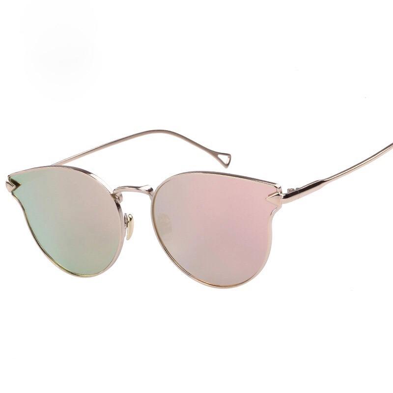 óculos de sol feminino rose gatinho espelhado inspired dior. Carregando  zoom. a1e953b385