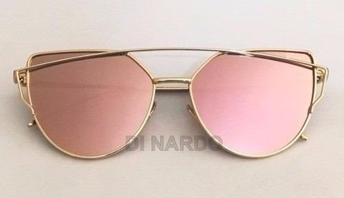 7823d33b31cc5 Óculos De Sol Feminino Starlight Espelhado Lente Rose - R  78