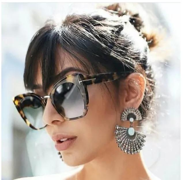 Óculos De Sol Feminino Tom Ford Gatinho Case E Flanela Armaç - R  85 ... 7876d21598