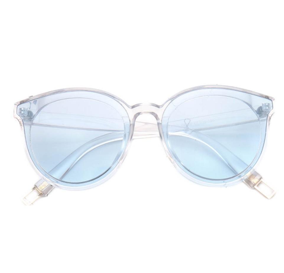 Óculos De Sol Feminino Transparente Estilo Retro Azul - R  46,00 em ... d61c1ae5c6