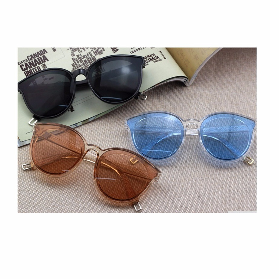 d8761fd1f123b óculos de sol feminino transparente estilo retro marrom. Carregando zoom.