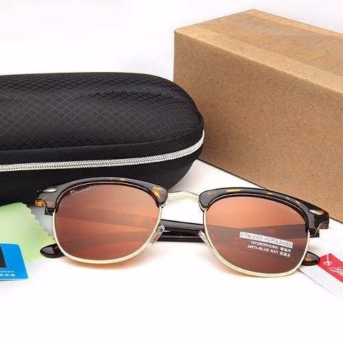 925c6b55957ce Óculos De Sol Feminino Uv400 Lentes Polarizadas - Com Case - - R  89 ...