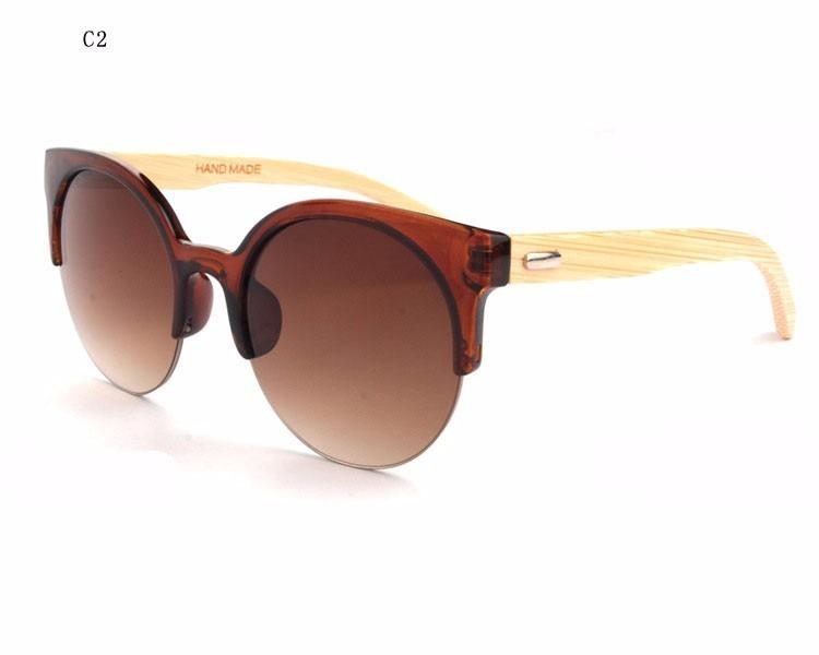 30bc69b94 Oculos De Sol Feminino Uv400 Madeira Natural Bamboo Lindo! - R$ 59 ...