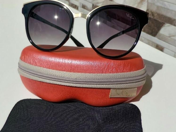cab5db9f83d79 Óculos De Sol Feminino Versat Gold Lux - R  100