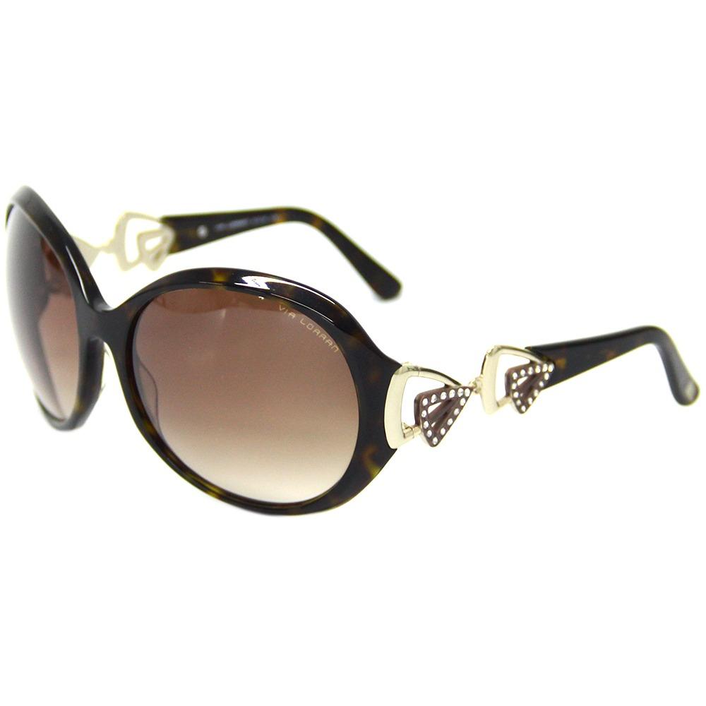0ab362f8e Óculos De Sol Feminino Via Lorran Vl 1139 Marrom - R$ 299,00 em ...