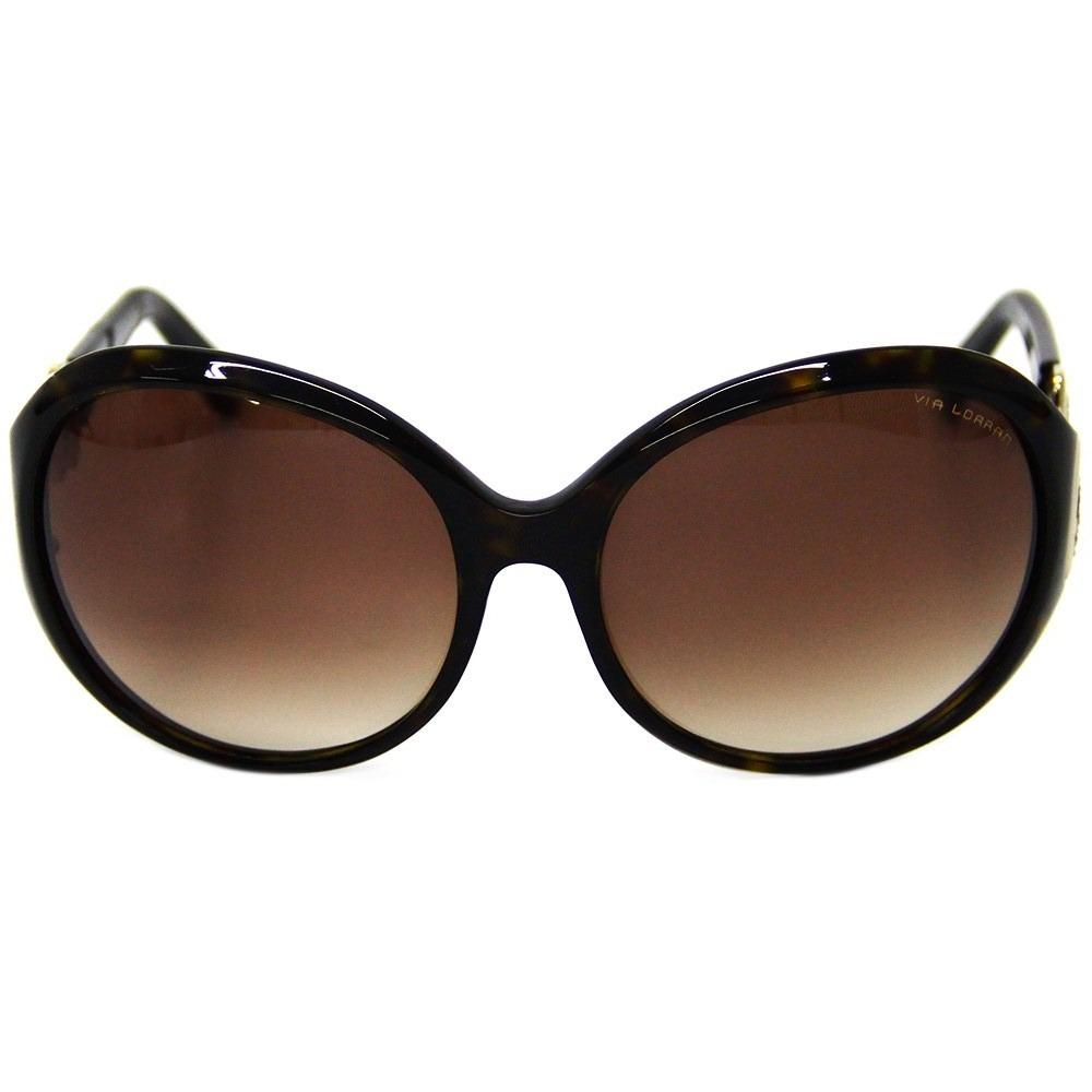 3387db26b Óculos De Sol Feminino Via Lorran Vl 1139 Marrom - R$ 299,00 em ...