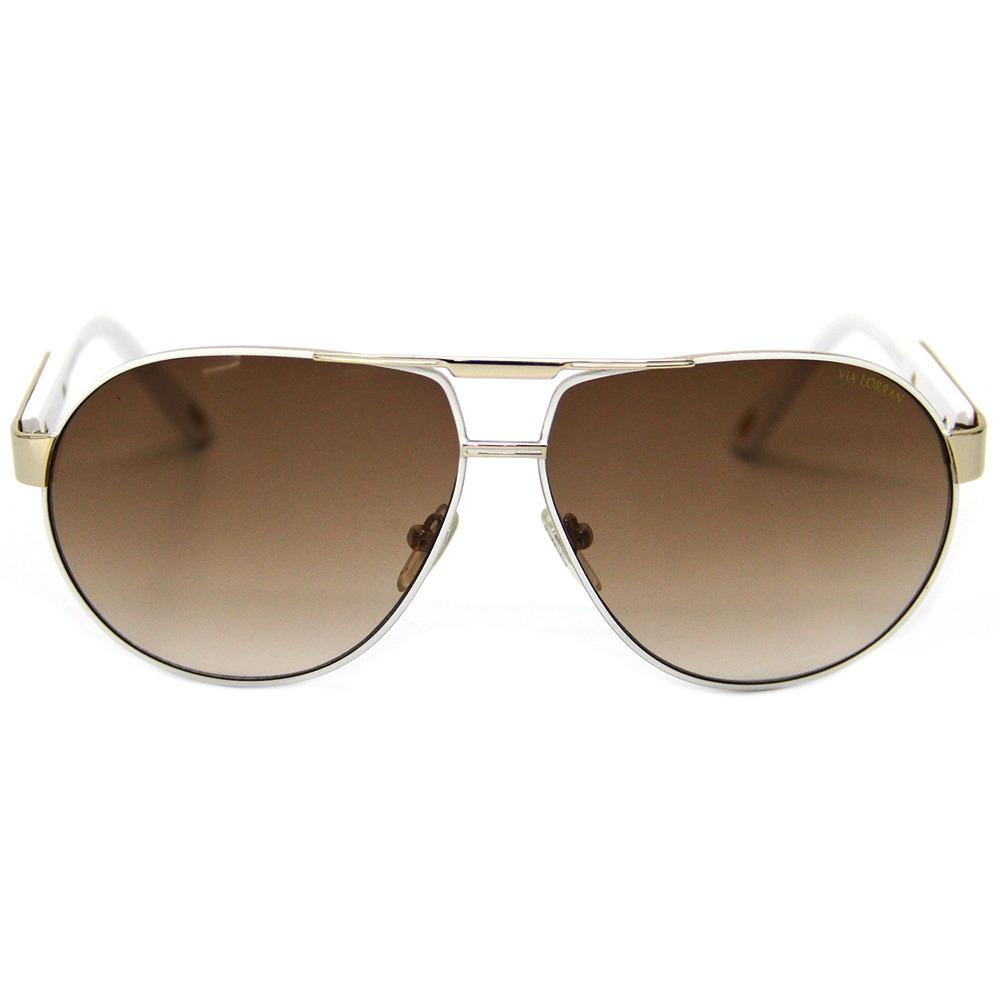 de5e1237f óculos de sol feminino via lorran vl 137 dourado / marrom. Carregando zoom.