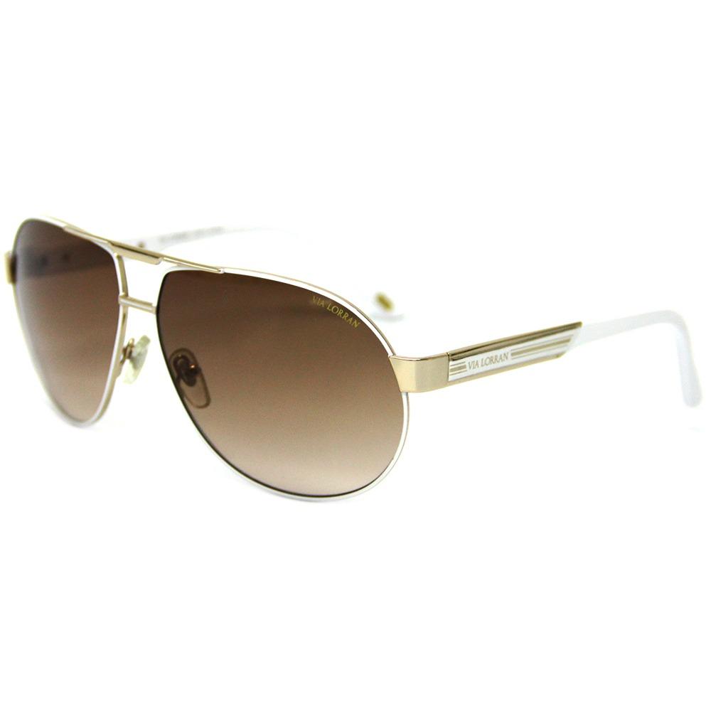 a856a8b53 Óculos De Sol Feminino Via Lorran Vl 137 Dourado / Marrom - R$ 299 ...