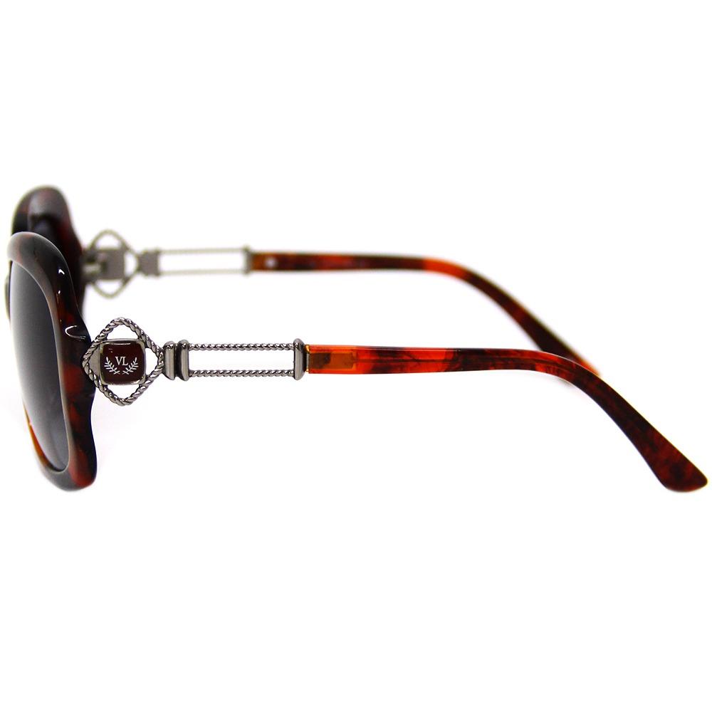 1fbb647c6 óculos de sol feminino via lorran vl 1710 vermelho / preto. Carregando zoom.