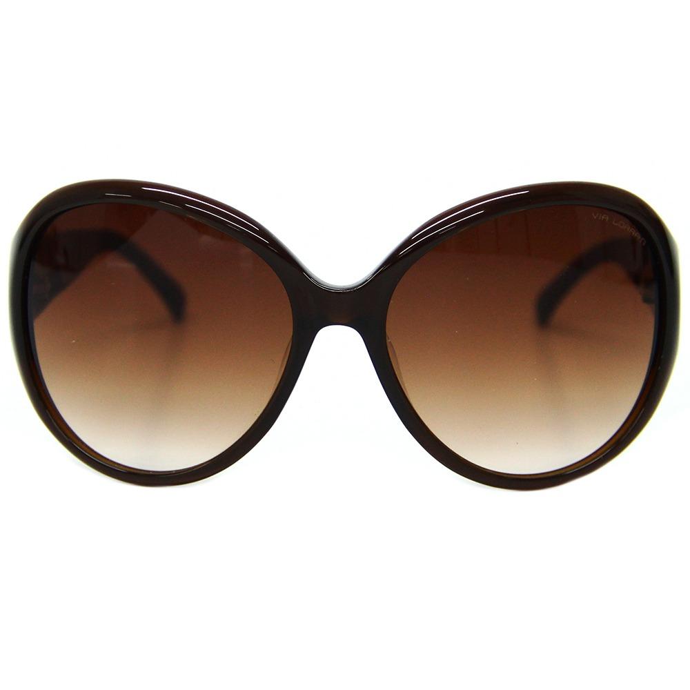 a966296ff Óculos De Sol Feminino Via Lorran Vl 20 Marrom - R$ 299,00 em ...