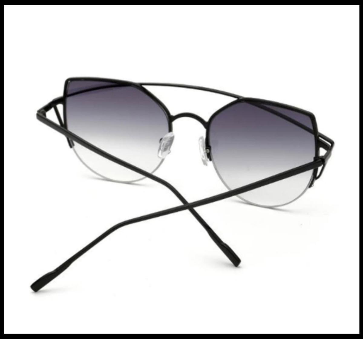 fe2ec42fa óculos de sol feminino vintage olho de gato espelho uv400. Carregando zoom.