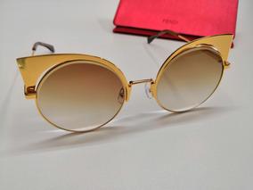 020b268b5 Oculos Fendi Espelhado Dourado no Mercado Livre Brasil